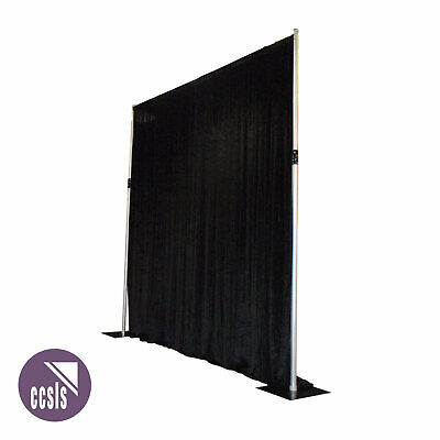 BravoPro Pipe & Drape 3M x 3M Curtain Suspension System with Black Curtain