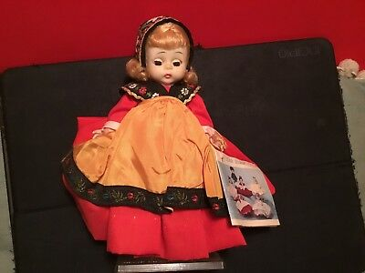 "Vintage 1972 Madame Alexander Little Women Swedish Alex Doll 8"" W/stand And Tag"