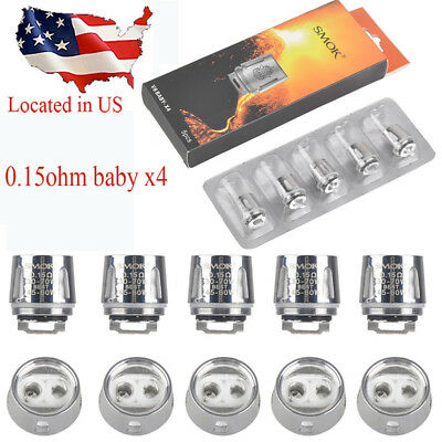 V8 - X4 BABY SMOK TFV8 BIG Cloud Beast Replacement Coils 5PCS USA Seller
