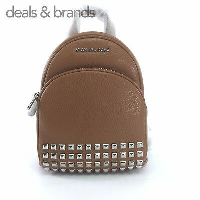 9844b5b76a23 NWT MICHAEL KORS Leather Abbey XS Studded Backpack 35T7SAYB1L in ACORN MSRP  $348