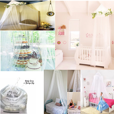 Elegant Tulle Bed Canopy Curtains with Rose Flower Vine.Princess Decor,Twin Size