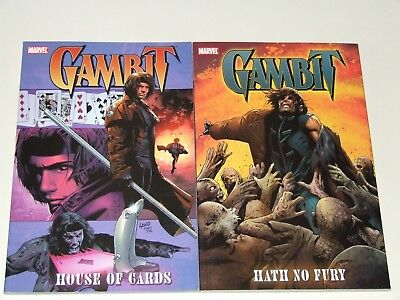 Gambit - House of Cards TPB & Gambit - Hath No Fury TPB (2005 Marvel)