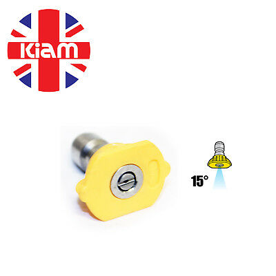 11.6mm Quick Release Nozzle Jet for High Pressure Washer 15° Sizes 03 - 05