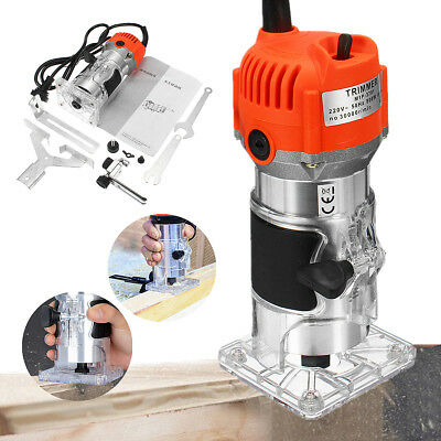 220V 800w 30000RPM 0.25'' Electric Wood Trimmer Laminator Router Joiners Tools