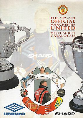 Manchester United FC Official Merchandise Catalogue 1992/3