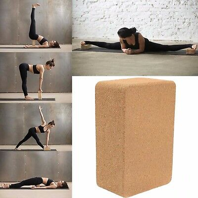 ECO-Friendly Cork Yoga Block Organic Yoga Prop Accessory Exercise Brick