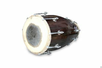 Handmade Bolt Tuned Indian Mango Wood Musical Dholak Bhajan Kirtan Use 0130
