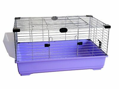 Heritage Lilac Rabbit 80cm Large Indoor Cage Kit Guinea Pig Rodent Hutch Home