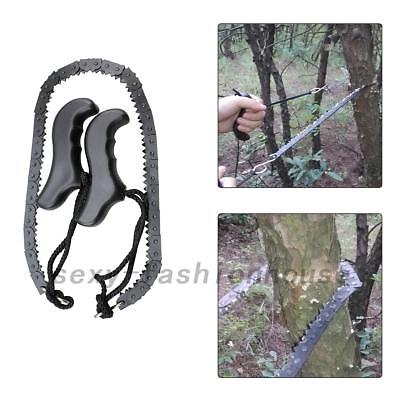 Camping Hiking Emergency ChainSaw Hand Tool Pocket Gear Household Kit