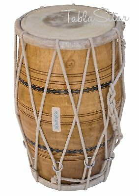 Mango Wood Dholak Maharaja™ Rope Tuned Indian Dholki Free Shipping/aje-01