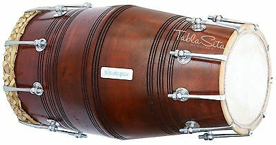 Gajra Dholak|Maharaja|Dholaki With Bag|Dark Wood Color|Mango Wood|Bolt Tuned|Bga
