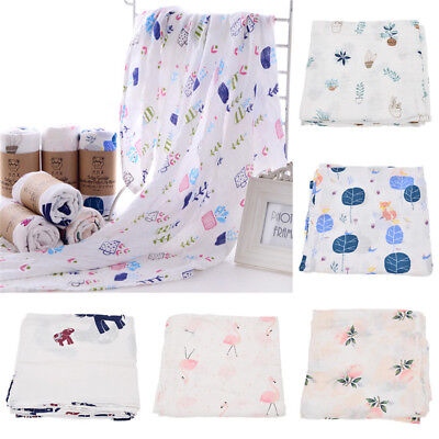 Bamboo Fiber Baby Swaddle Blanket Wrap Newborn Infant Towel Soft Lovely Gift 1pc