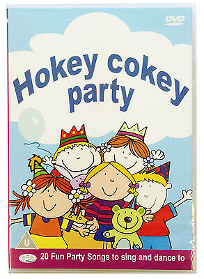 Hokey Cokey Party DVD.  Children's Kids Party Songs & Action Songs *NEW WRAPPED*
