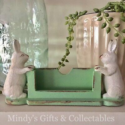 19cm Long Resin Rabbit Bunny Business Card Holder Display Stand Business Shop