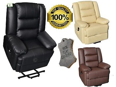 Capri Luxury Bonded Leather Electric Riser Recliner Mobility Chair Lift Armchair