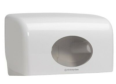 Kimberly Clark AQUARIUS Compact Twin Toilet Roll Dispenser White 6992 PS75