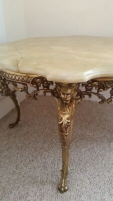 Marble topped Coffee Table Round Marble Top. Beautiful.