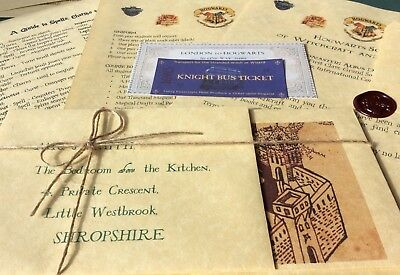Personalised Acceptance Letter Harry Potter Free Marauders Map Hogwarts