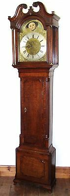Antique Rolling Moon PULL REPEAT Longcase Grandfather Clock HARLOW LANE END