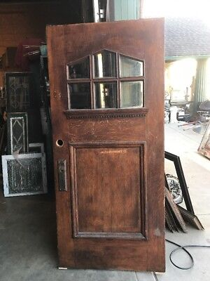 An 001 Antique Quartersawn Oak Entrance Door Arts & Crafts 35 5/8 X 78 15/16