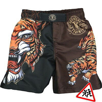 Kinder Shorts Hardcore Training Tiger MMA Fitness Kampfsport Training