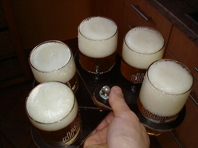Compartments Tray for up to 5 Beer Glasses fits for Every Pocket bierbude NEW