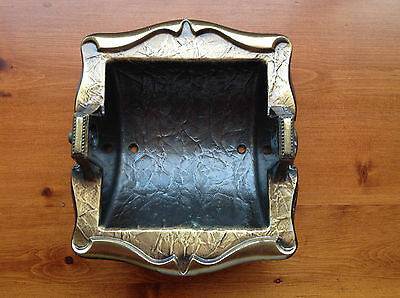 Vintage Brass Amerock Carriage House Recessed Toilet Tissue Paper Holder