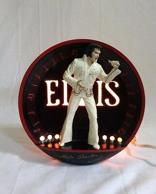 Elvis Presley Collector Plate Spotlight On Stage In Hawaii Free Shipping