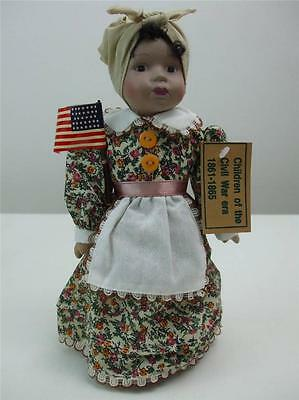 """Girl Doll Dressed in Civil War Clothing New w Tags 10"""" tall"""