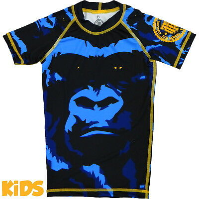 Kids Rashguard Hardcore Training Gorilla - Short Sleeve Niño Compresión superior