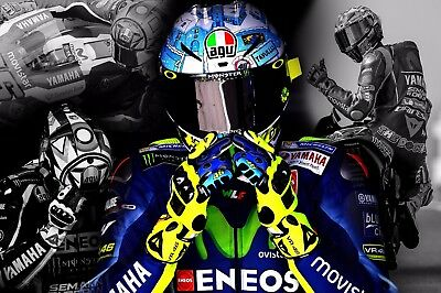 """VALENTINO ROSSI LIMITED EDITION CANVAS PRINT BY KOOL CANVAS 18""""x12""""  MOTO GP"""