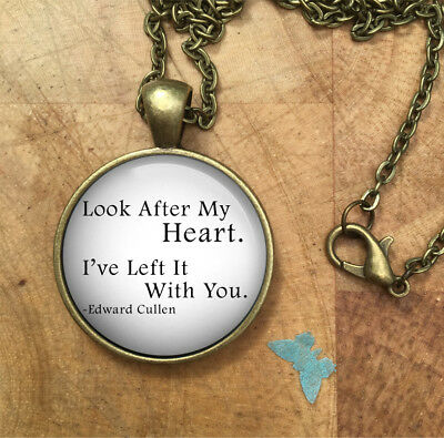 Twilight Edward Cullen Look After Your Heart Necklace Pendant