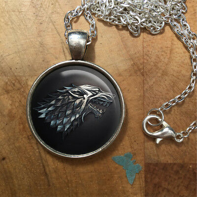 Game of Thrones Direwolf Dire Wolf Stark Necklace Pendant