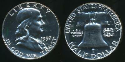 United States, 1957 Half Dollar, Franklin (Silver) - Proof
