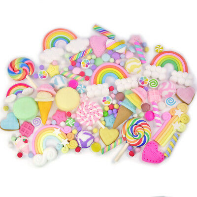 CLAY Cabochon & Sprinkles Rainbow Mix Set Decoden