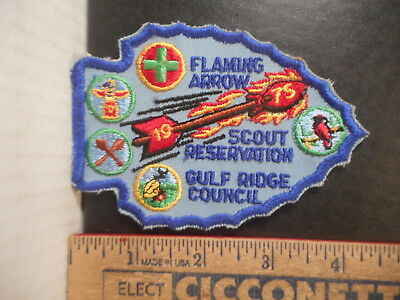 Royal Rangers Or Boy Scouts Flaming Arrow Scout Reservation 1975 Patch  925TB.