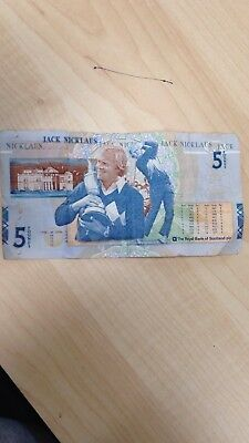 Jack Nicklaus £5 Note MINT CONDITION