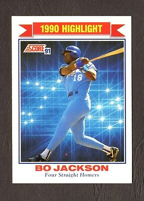 1991 Score Baseball Card 420 Highlight Bo Jackson Kansas City Royals F24575