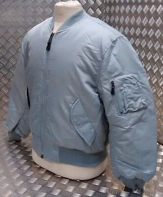 MA1 US Military Style Bomber Jacket MOD/Scooter/Bikers All Sizes Silver  - NEW