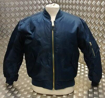 MA1 US Military Style Bomber Jacket MOD/Scooter/Bikers All Sizes Blue  - NEW