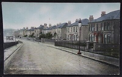 Old Postcard - North Crescent, Ardrossan, Ayrshire, Scotland