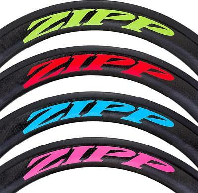 Zipp Decal Set: 202 Matte Green Logo, Complete for One Wheel