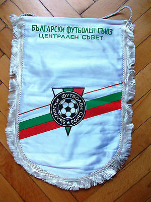 Pennant Official Bulgaria Football Association 1980s Big Wimpel Gagliardetto