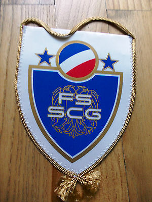 Pennant Serbia & Montenegro Football Association bandierina wimpel gagliardetto