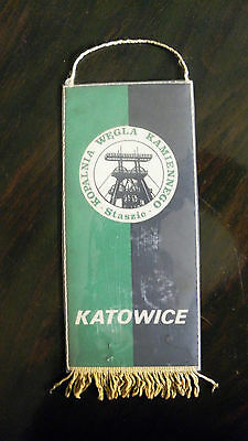 pennant Staszic Coal Mine Katowice Poland Hammers wimpel