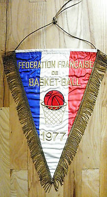 pennant France Basketball Association 1977 embroidered bandierina gagliardetto