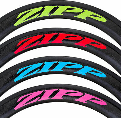 Zipp Decal Set: 202 Matte Pink Logo, Complete for One Wheel