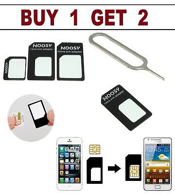 CONVERT Nano SIM Card to MICRO Standard SIM Adapter SET For Apple iPhone 4 5 6