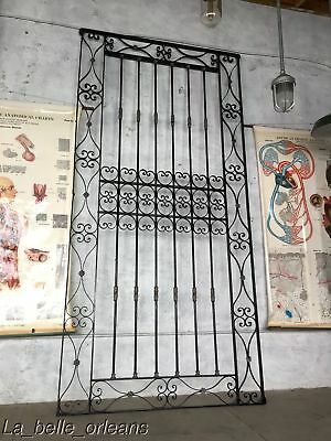 Antique Wrough Iron Architectural Gate Panel / Window Guard. Must See ! 9Ft Tall