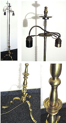 stehlampe alt antik messing bronze jugendstil 2fl ohne lampenschirm eur 80 00 picclick de. Black Bedroom Furniture Sets. Home Design Ideas